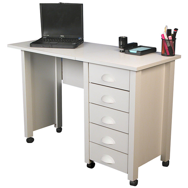 Mobile desk craft center venture horizon furniture - Mobile office desk ...