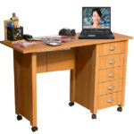 Oak Mobile Craft Desk
