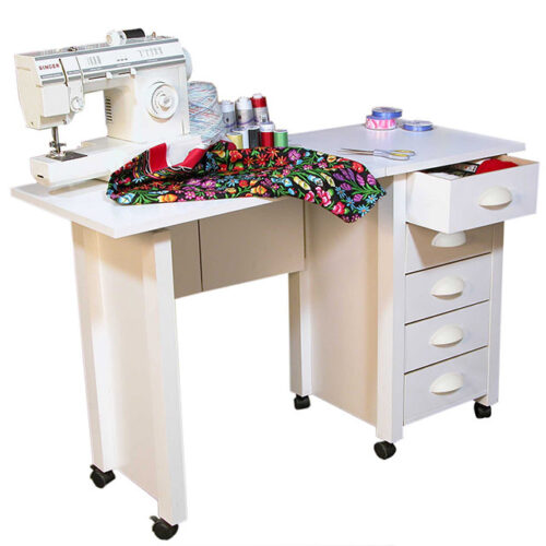 White Mobile Craft Desk