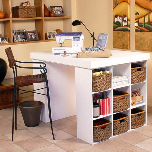 White Project Center with Bookcases 1148-11WH
