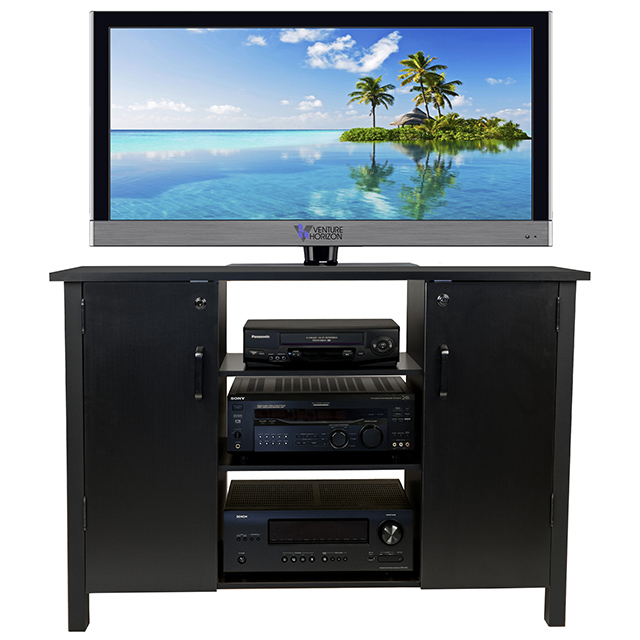 Black Audio Video Cabinet 2365-21BL