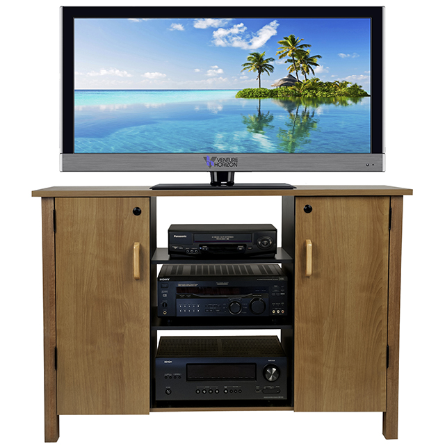 Oak Audio Video Cabinet 2365-33OA
