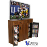 Walnut Media Cabinet with Drawers