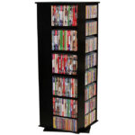 Black Revolving Media Tower Medium-900