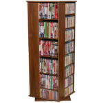 Walnut Revolving Media Tower Medium-900