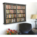Black Double Wall Mount Cabinet 2422-21BL