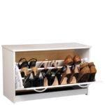 White Single Shoe Cabinet 4220-11WH
