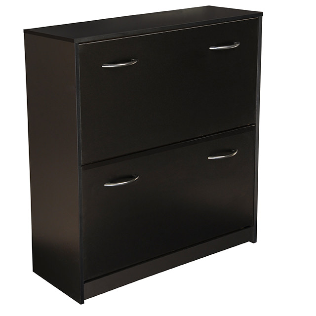 Black Double Shoe Cabinet 4230-21BL