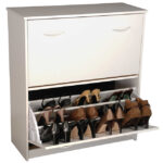 White Double Shoe Cabinet 4230-11WH