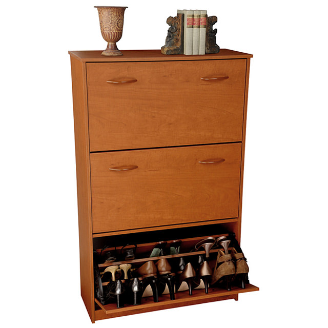 Cherry Triple Shoe Cabinet 4240-42CH