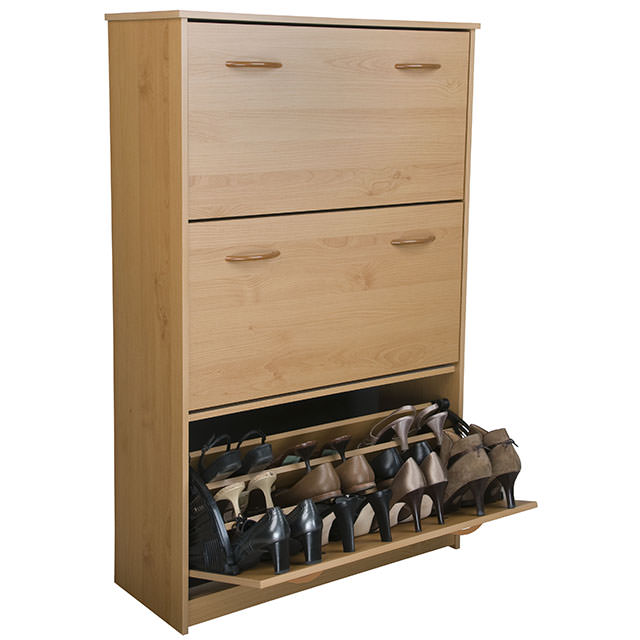 Oak Triple Shoe Cabinet 4240-33OA