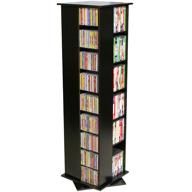 Black Revolving Media Tower Small-600