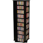 Black Revolving Media Tower Large-1100