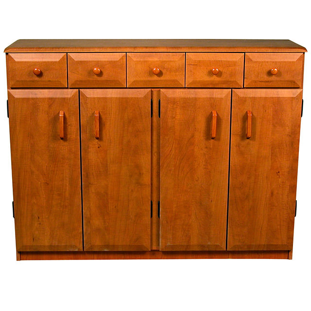 cherry multimedia cabinet with drawers 2368 42ch venture. Black Bedroom Furniture Sets. Home Design Ideas