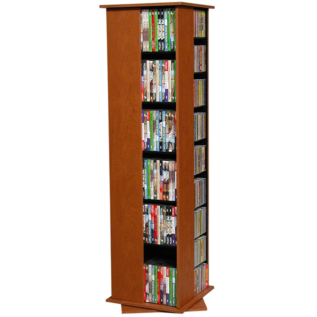 Cherry Revolving Media Tower Small-600