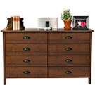 Walnut 8 Drawer Lowboy Home
