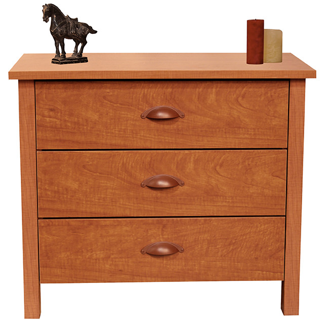 Cherry 3 Drawer Chest
