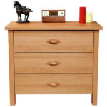 Oak 3 Drawer Chest