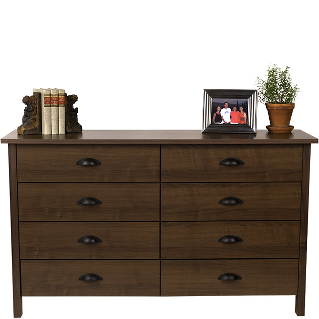 Walnut 8 Drawer Lowboy